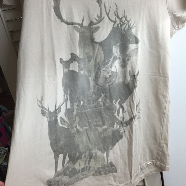 Roots Tee 米白鹿款