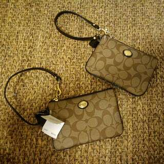 Coach Peyton Signature Wrist Wallet- Authentic With Tag