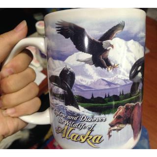 [全新]阿拉斯加 紀念馬克杯 大尺寸