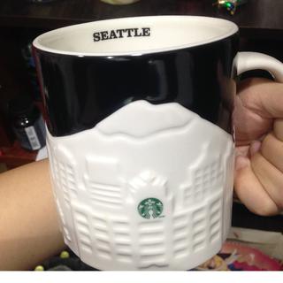 [全新]美國西雅圖 浮雕杯 派克市場/星巴克杯