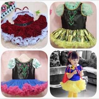 卡通 童裝 白雪公主 愛紗 安娜 聖誕 造型 禮服 蓬蓬裙萬聖節 變裝派對表演服