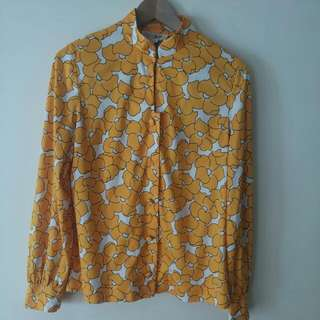 Yellow Floral Vintage Button Down