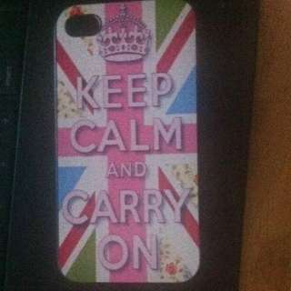 Keep Calm And Carry On iPhone 4/4s Case