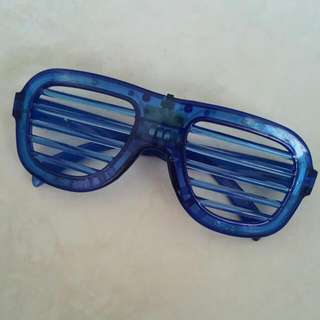Cool Blue Electric Glasses