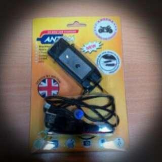 Charger Motor Merek ANZENA BLACK/WHITE