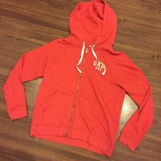 GAP 長袖外套 紅色 基本款 棉質 L 穿過一兩次而已 幾乎全新 原價兩千左右