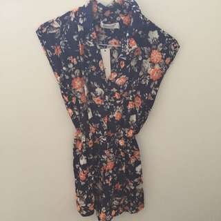 Sunnygirl Floral Playsuit Size 10 Brand New With Tags