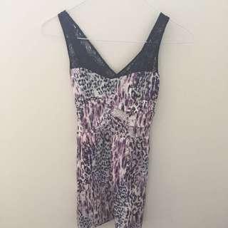 Lily Whyt Purple Dress Size 8 SH