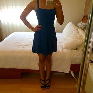 H&M Blue Skater Dress