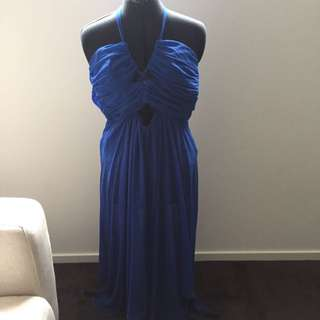 Bardot Blue Cut-out Maxi Size 10 Brand New