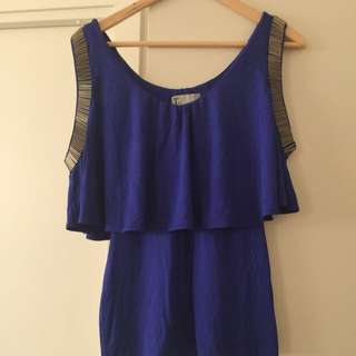 Electric Blue Women Top Size 8 - T By Betting Liano