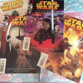 Star Wars Episode 3 Movie Comics (All 4a)