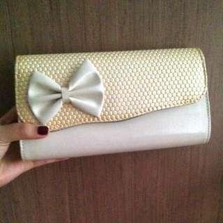 White Ribbon Clutch