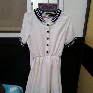 海軍風洋裝黑白二色