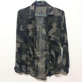軍裝紡紗襯衫