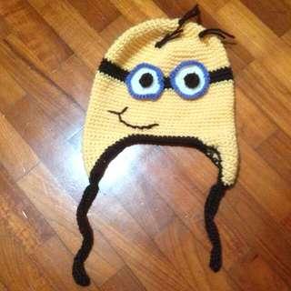 Handmade Despicable Me Minion Crotchet Hat Beanie 😍