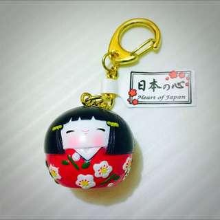 京都帶回、可愛娃娃鑰匙圈