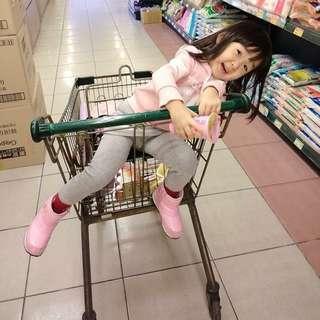 Nike小女童高筒靴-粉紅色亮皮-二手8新
