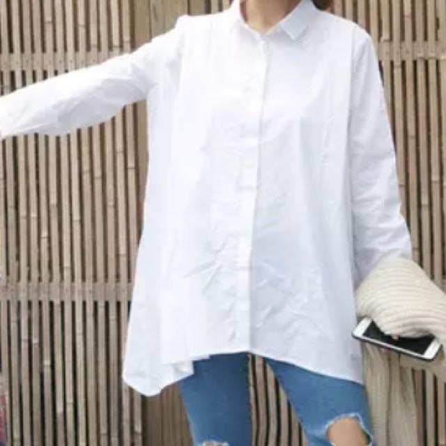 免運❕全新白色襯衫