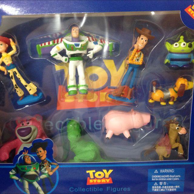 絕版香港迪士尼玩具總動員人物公仔組