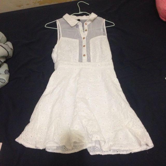 澳洲帶回二手白洋裝~