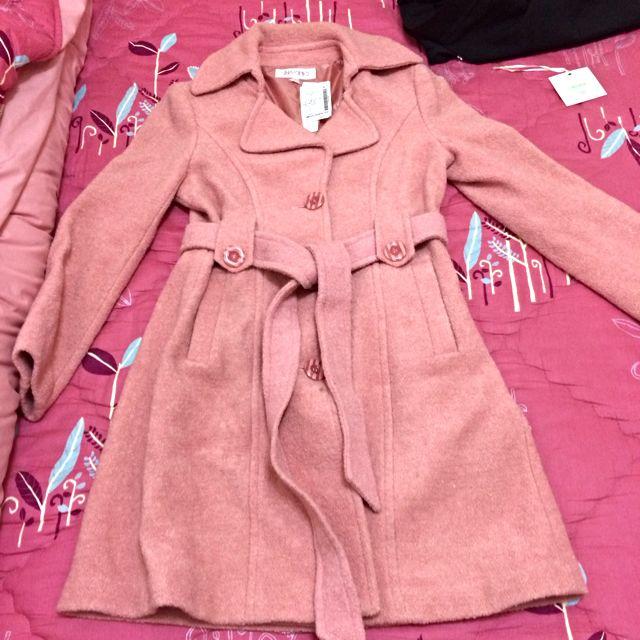 粉紅色中長大衣 (全新)