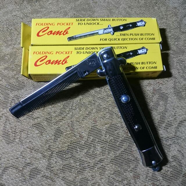 油頭專用梳 彈簧梳 髮油 折疊梳