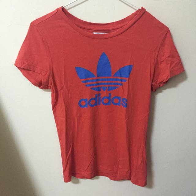 正品adidas紅色短袖T-shirt(二手)