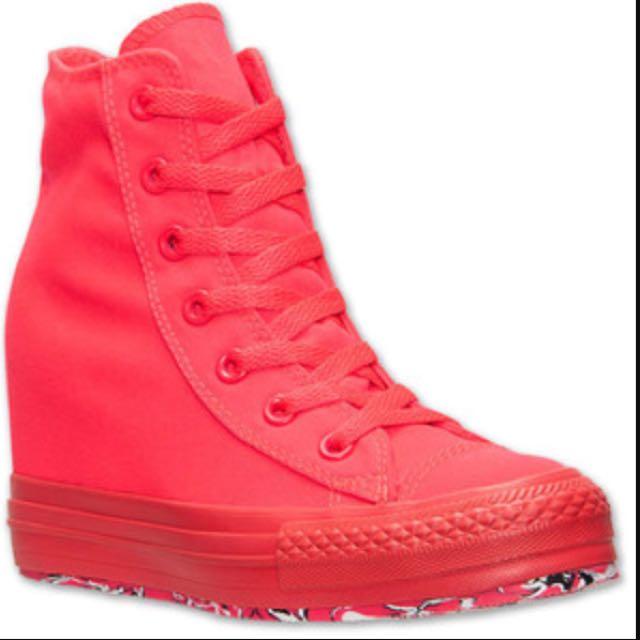 0e0067e0e20d Converse Chuck Taylor All Star Platform Plus Pink Womens Wedges Shoes