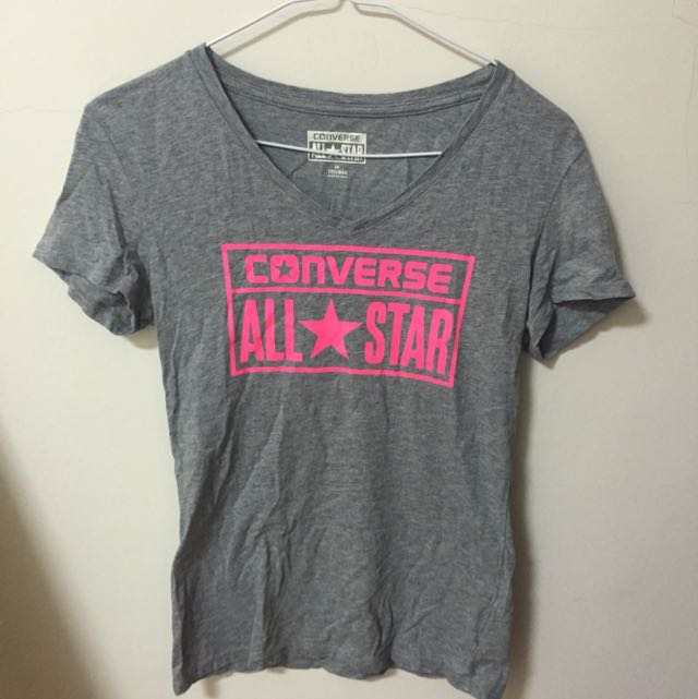 正品灰色converse短袖T恤上衣(試穿一次下水)