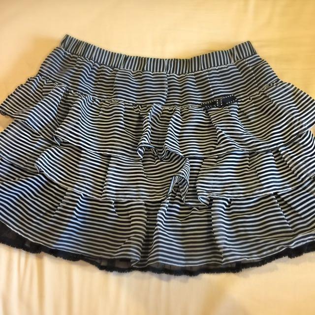 COTTON INN 二手 黑白條紋蛋糕裙  8成新 Fsize