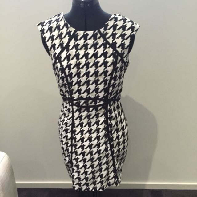 'Everybody Talks' Blk And White Dress