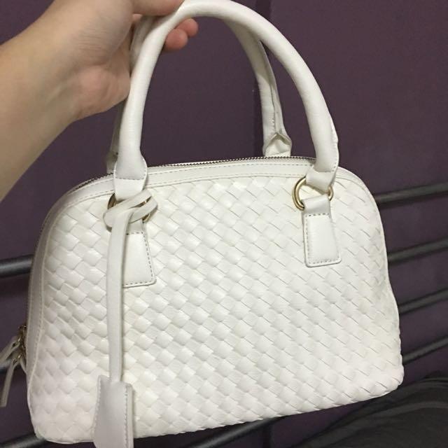 Forever 21 White Sacket Bag - Small