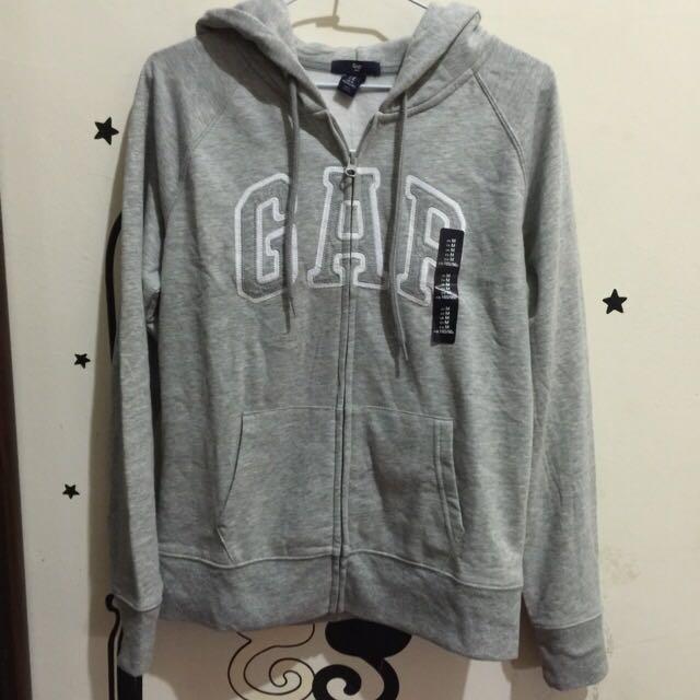GAP 淺灰色連帽外套 M號