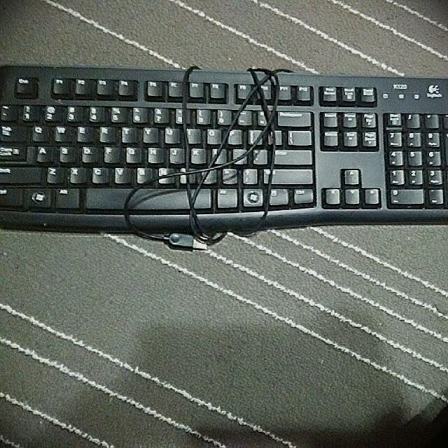 K120 Logitech Wired Keyboard, Electronics on Carousell