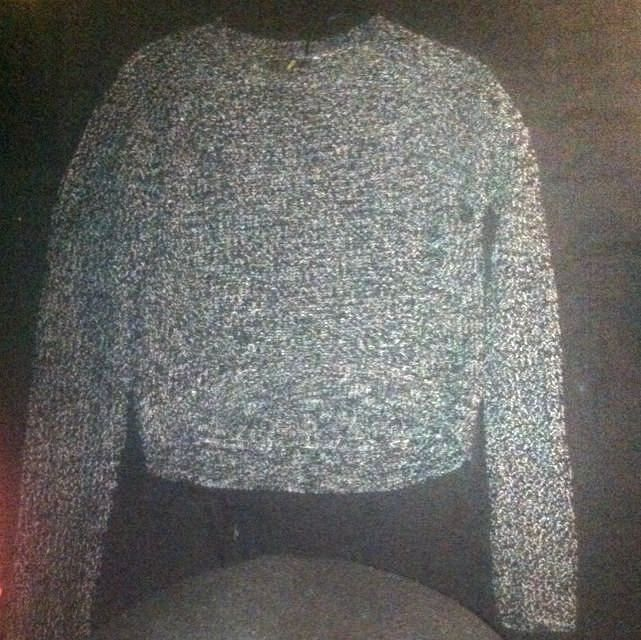 Knit Long Sleeve Crop Top