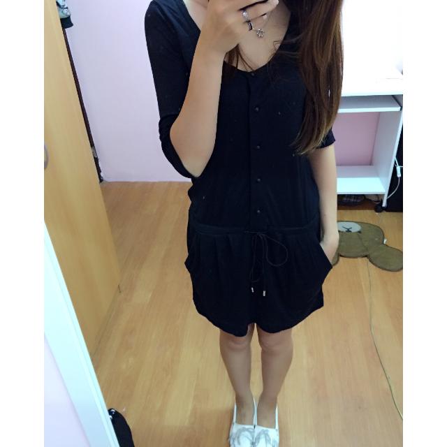 le souk 日系品牌 五分袖顯瘦連衣裙 洋裝
