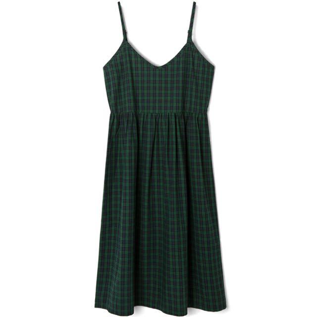 Lovfee 英倫風格紋洋裝 綠