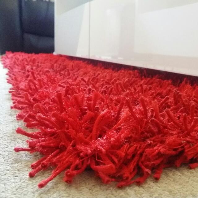 Modern Shaggy Red Floor Rug 1610 X 1210