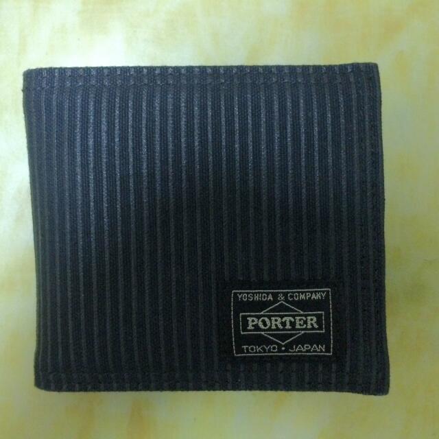 PORTER - 薄式帆布短夾