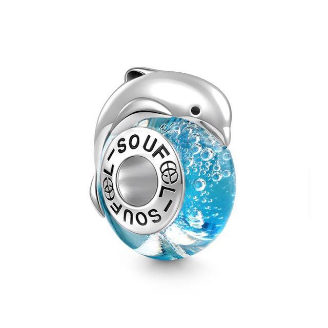 郵寄免運☆正品現貨☆SOUFEEL 索菲爾 925純銀串珠 戲水海豚 Pandora串珠吊飾適用