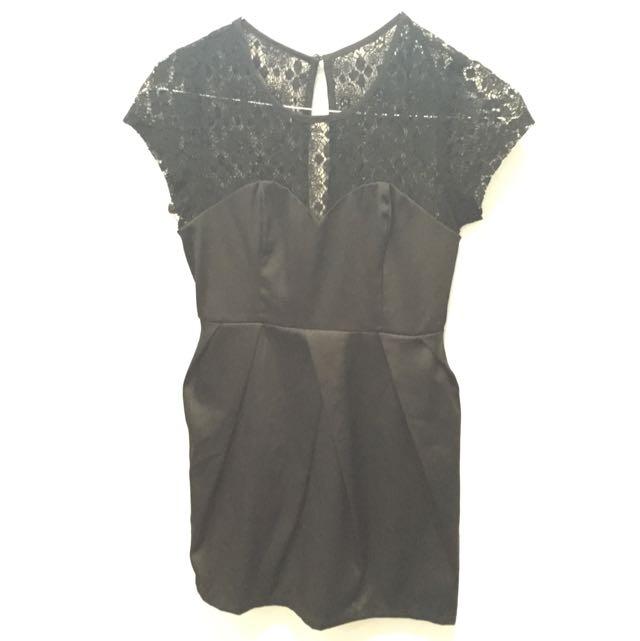 Spicy Sugar Black Lace Dress