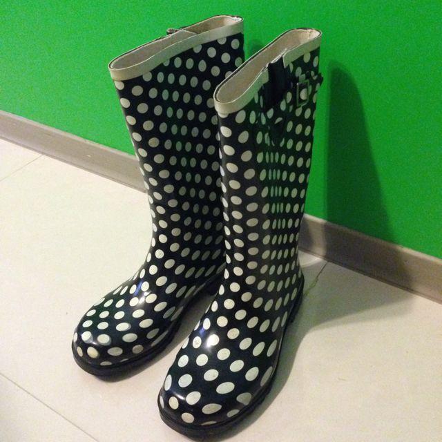 Steve Madden 黑白點點 靴子 雨鞋