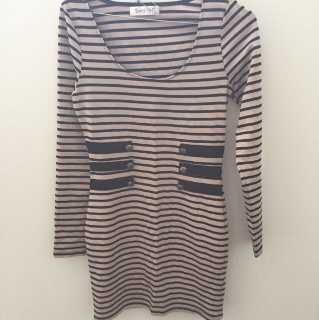 Sunnygirl Stripe Dress Size 8 Brand New With Tags