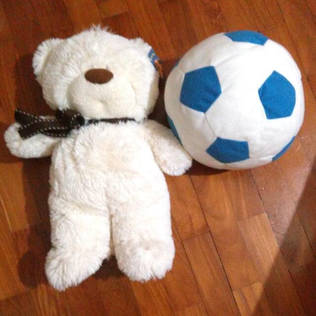 Teddy Bear , Soccer Doll Fluffy Plush Toy
