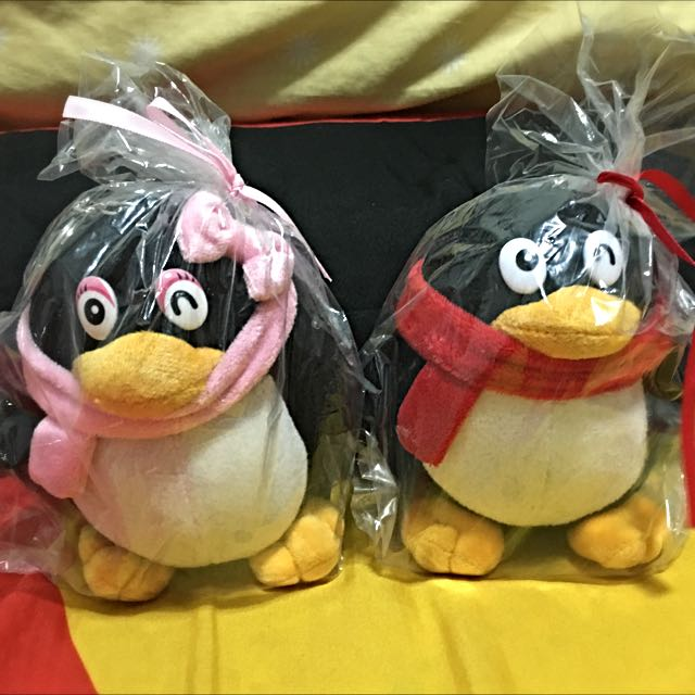 Tencent QQ Penguin Soft toy, Toys & Games on Carousell