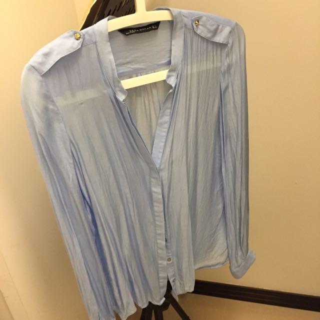 Zara 絲質薄襯衫