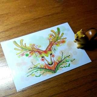 明信片×麋鹿