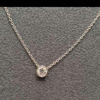 0.3ct鑽石項鍊,簡單大方