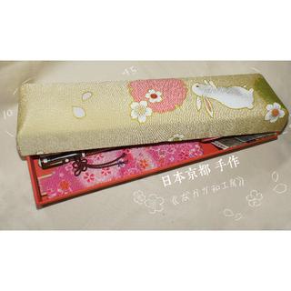 【日本京都帶回】櫻花 兔子 和風手工收納盒